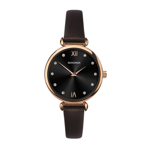 Sekonda Ladies Brown Leather Strap Watch 2785