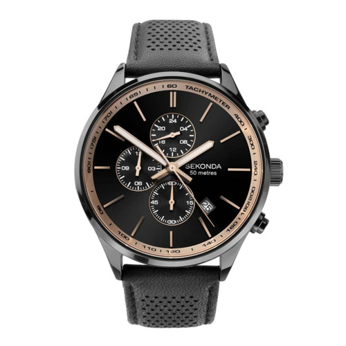 Sekonda Gents Chronograph Date leather Strap 1774