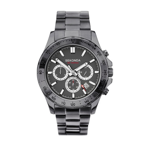 Sekonda Gents Gun Metal Chronograph Watch 1660