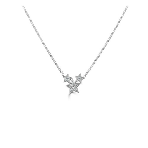 Cosmos Collection 18ct White Gold 0.28ct Diamond Necklace
