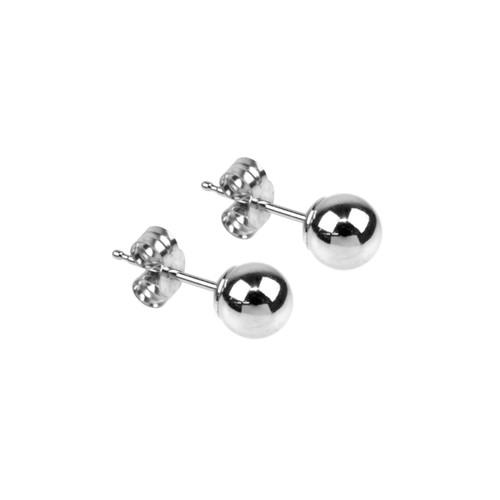 Sterling Silver Ball Stud Earrings
