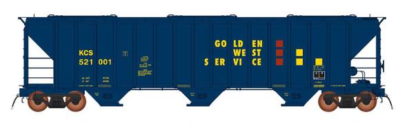 InterMountain HO Scale 4785 PS2-CD Covered Hopper car -Golden West #KCS  521004