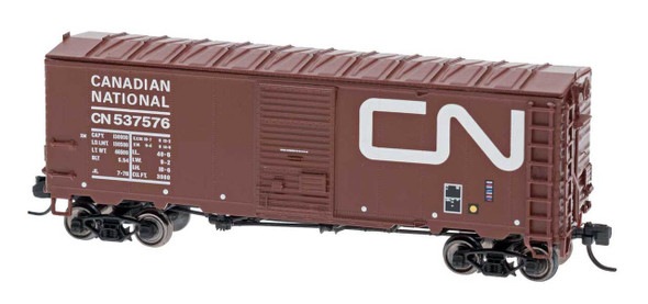 InterMountain N Scale Modified AAR 40' Boxcar Canadian National Wet Noodle #537740