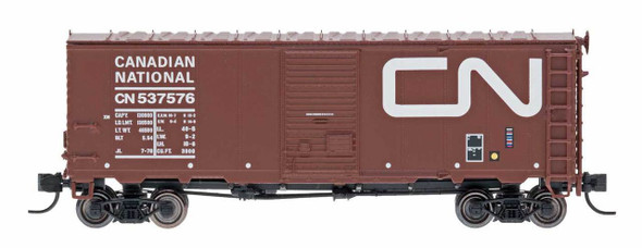 InterMountain N Scale Modified AAR 40' Boxcar Canadian National Wet Noodle #538025