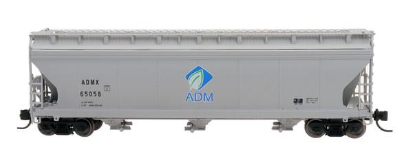 Intermountain N Scale ACF 4650 Cu. Ft. 3-Bay Hopper - ADM New Logo #65042