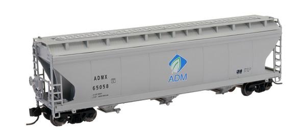 Intermountain N Scale ACF 4650 Cu. Ft. 3-Bay Hopper - ADM New Logo #65048
