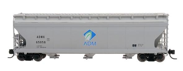 Intermountain N Scale ACF 4650 Cu. Ft. 3-Bay Hopper - ADM New Logo #65086