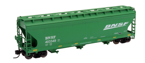 Intermountain N Scale ACF 4650 Cu. Ft. 3-Bay Hopper - BNSF New Image Green #403370