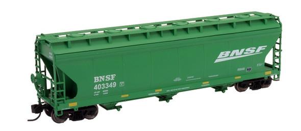 Intermountain N Scale ACF 4650 Cu. Ft. 3-Bay Hopper - BNSF New Image Green #403372