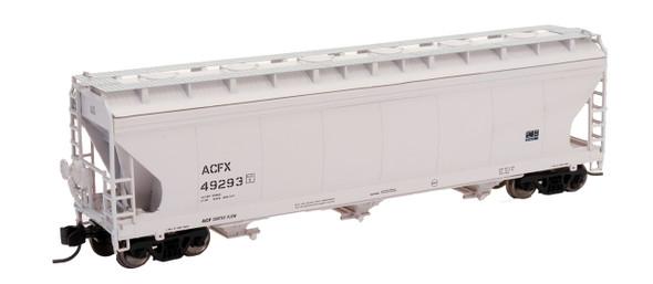 Intermountain N Scale ACF 4650 Cu. Ft. 3-Bay Hopper - ACFX Gray #27287