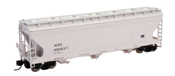 Intermountain N Scale ACF 4650 Cu. Ft. 3-Bay Hopper - ACFX Gray #27350