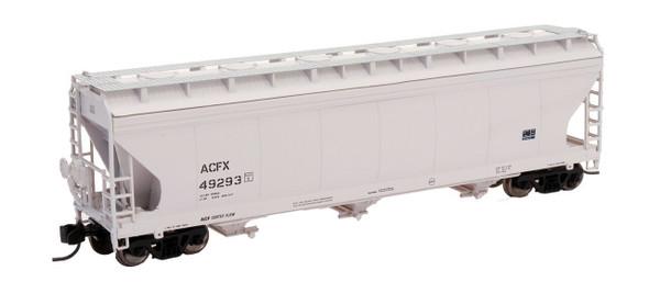 Intermountain N Scale ACF 4650 Cu. Ft. 3-Bay Hopper - ACFX Gray #48736