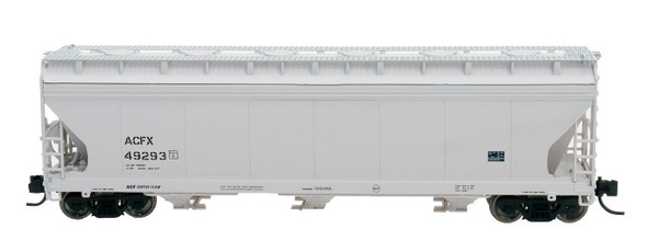 Intermountain N Scale ACF 4650 Cu. Ft. 3-Bay Hopper - ACFX Gray #49293