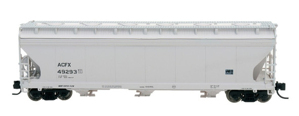 Intermountain N Scale ACF 4650 Cu. Ft. 3-Bay Hopper - ACFX Gray #49951