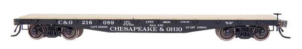 InterMountain HO Scale 42' fish Belly Flatcar - Chesapeake & Ohio #216066