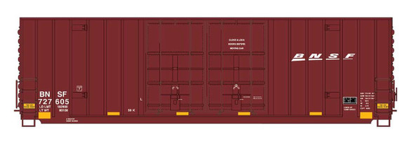 Intermountain HO Scale Gunderson 50ft. High Cube Double Door Boxcars - Flat Roof-BNSF- New Image