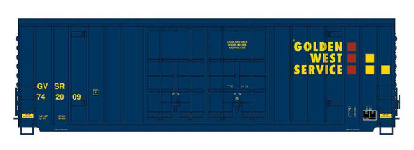 Intermountain HO Scale Gunderson 50ft. High Cube Double Door Boxcars -Peaked Roof-Golden West