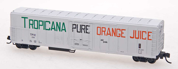Red Caboose N Scale Tropicana 57ft. Mechanical Refrigerator Car #137 White W/Large Lettering,  ca. 1970