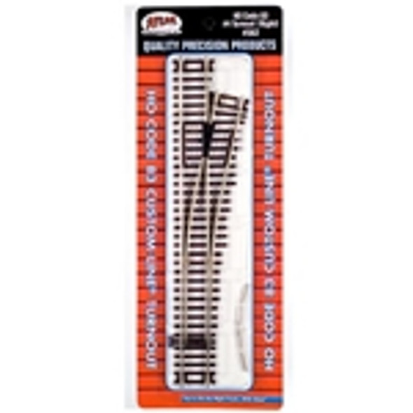 Atlas HO Scale Code 83 #4 Customline Turnout Right