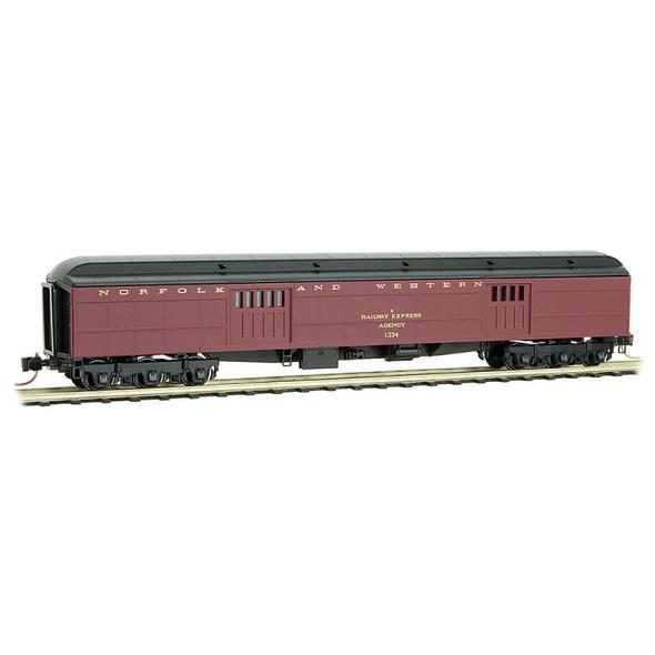 Micro-Trains Line N Scale Norfolk & Western  Heavyweight Baggage Car #1334