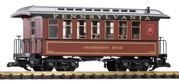 38629 Pennsylvania Railroad (PRR) Wood Coach#80476