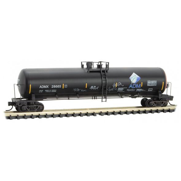 Micro-Trains N Scale Archer Daniels Midland Company (ADM) Graffiti Tank Car Rd# 28665