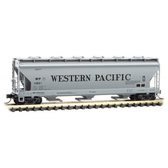Micro-Trains N Scale 3 Bay Covered Hopper Western Pacific - Rd# 11921