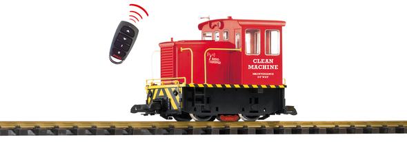 PIKO 38506 Clean Machine R/C GE 25-Ton Diesel Switcher Track Cleaning Locomotive(G-Scale)