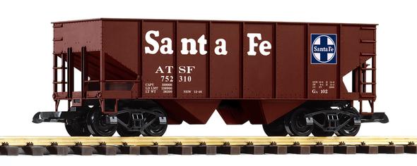 PIKO 38876 Santa Fe (SF / ATSF)Rib-Side Hopper Car (G-Scale)