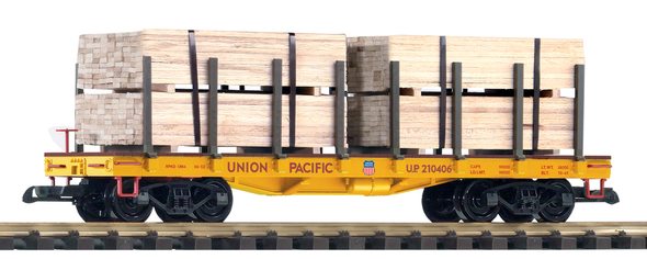 PIKO 38757Union Pacific(UP)Flatcar with Lumber Load (G-Scale)