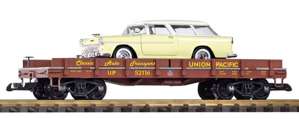 PIKO 38769 Union Pacific (UP)Auto Transport, with DiecastNomad Wagon (G-Scale)