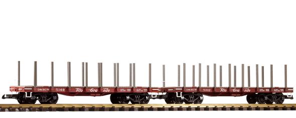 PIKO 38771 Denver & Rio Grande Western (D&RGW)Flatcar 2-Pack (G-Scale)