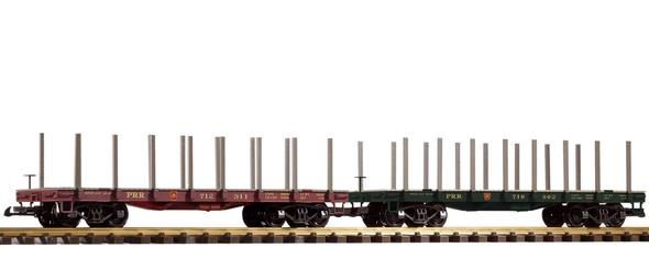 PIKO 38770 Pennsylvania Railroad(PRR)Flatcar 2-Pack (G-Scale)