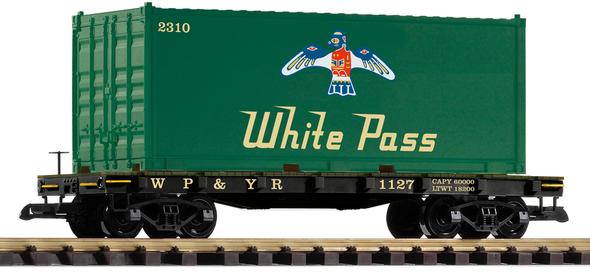 PIKO 38709 White Pass & Yukon Route Container Car #1127(G Scale)