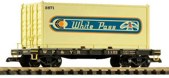 PIKO 38751 White Pass & Yukon Route Container Car#1123(G Scale)