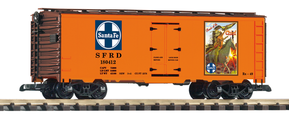 "PIKO 38895 Santa Fe (SF / ATSF) Steel Refrigerator Car, ""Warrior"" (G-Scale)"
