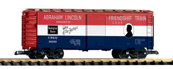 PIKO 38885 CB&Q Friendship Train Boxcar (G-Scale)