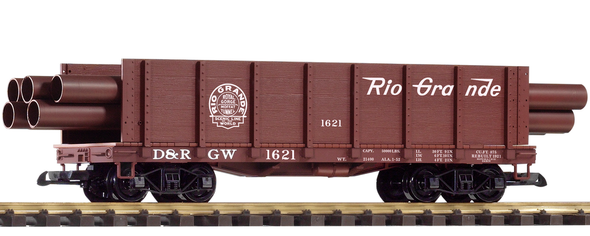 PIKO 38749Denver & Rio Grande Western (D&RGW) Pipe Gondola (G-Scale)
