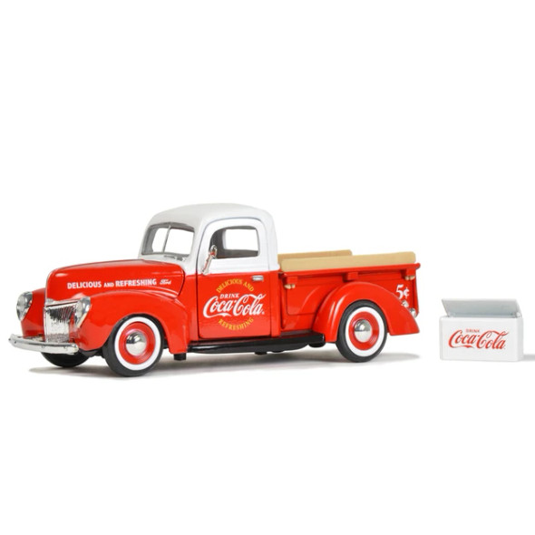 MOTOR CITY CLASSICS 424040 COCA-COLA 1940 FORD PICKUP WITH COOLER