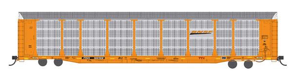 InterMountain HO Scale Bi-Level Auto Rack - BNSF New Orange Color #