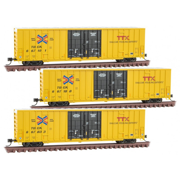 MICRO-TRAINS TTX VERSION 2 - 3 PACK 993 01 850