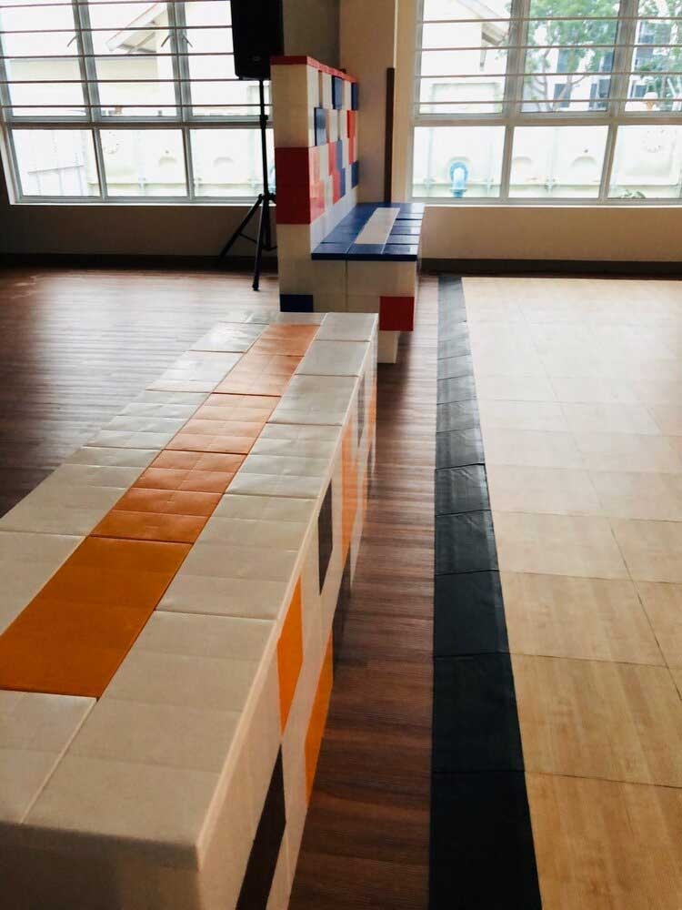 Create benches to sit on with EverBlocks around your EverBlock Flooring build