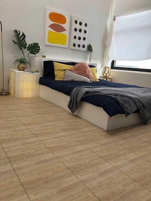 EverBlock Flooring used in a bedroom