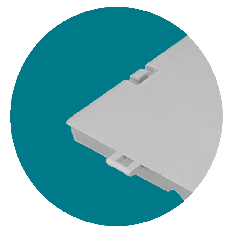 closeup of Flooring connectors