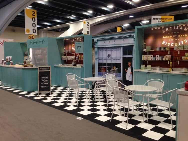 EverBlock Flooring tradeshow booth setup