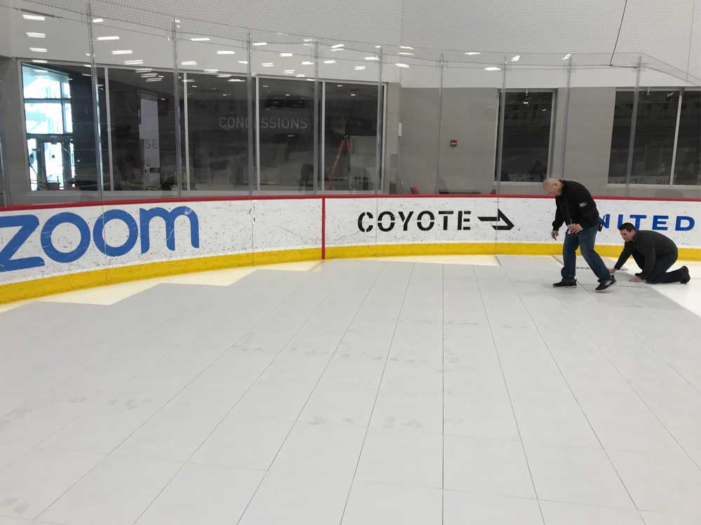 Cover the ice rinks with EverBlock Flooring