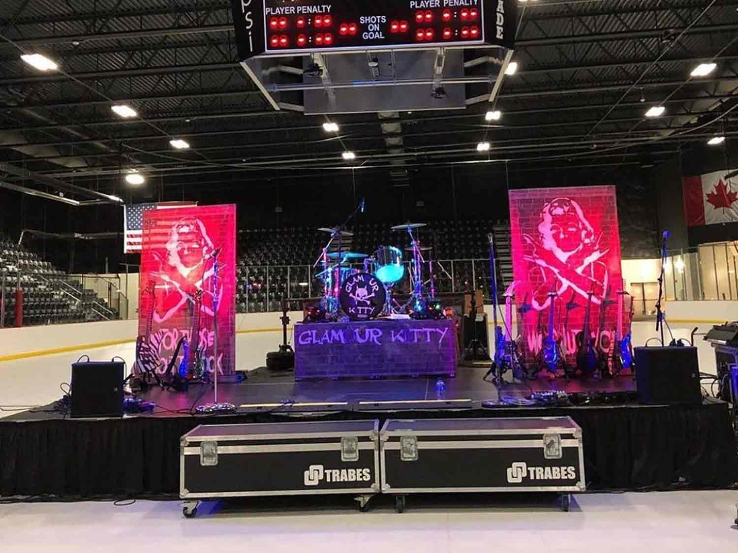 With EverBlock Flooring - you can convert an ice rink into a trade show or event!