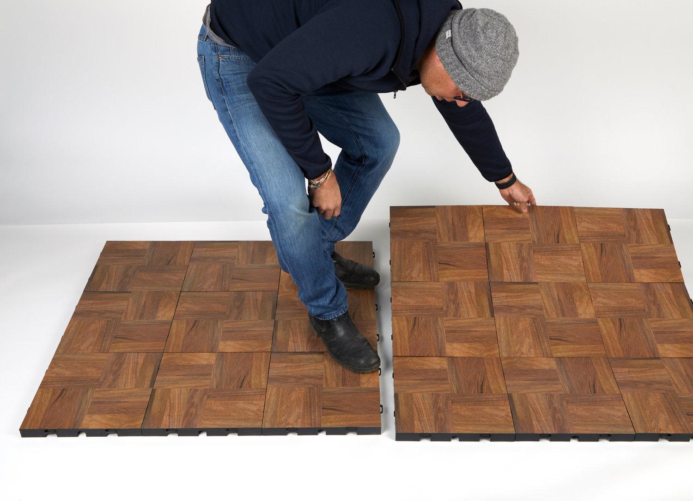 Step 2 of installing floor