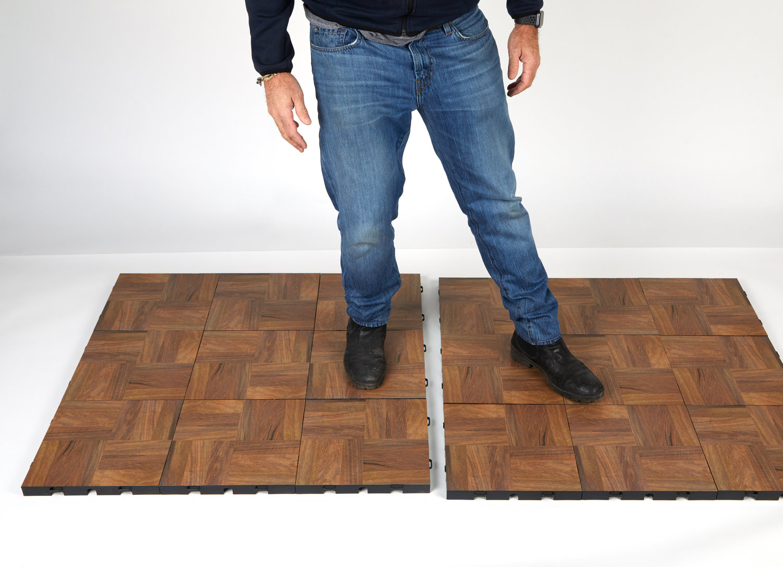Step 3 of installing floor