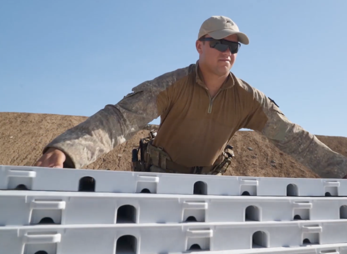 EverBlock Flooring tiles being used at a military training operation